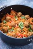 Jambalaya in a Pan stock photo