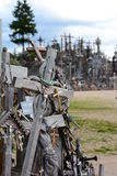 Close view. Hill of Crosses. Siauliai. Lithuania Royalty Free Stock Photos