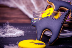 Close view at homemade halloween sweets Stock Photography