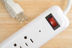 Close view of a household surge protector Royalty Free Stock Images