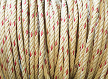 Close view of an industrial rope. royalty free stock photography