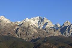 Close view of the Jade Dragon Snow Mountain in Yunnan, China Royalty Free Stock Image