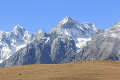 Close view of the Jade Dragon Snow Mountain in Yunnan, China Stock Photography