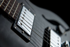 Close view of a jazz guitar Royalty Free Stock Images