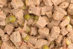 Close view of lamb and duck dog food Stock Image