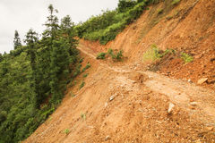 Close view of landslide in china Royalty Free Stock Photos
