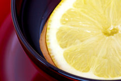Close view of lemon in water royalty free stock image