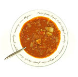 Close View Lentil Soup Stock Photography