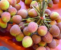 The close view of Lychee Royalty Free Stock Image