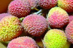 The close view of Lychee Royalty Free Stock Photography