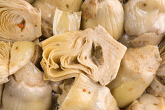 Close view of marinated artichoke hearts Stock Image