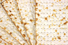 Close view of Matzo crackers Royalty Free Stock Image