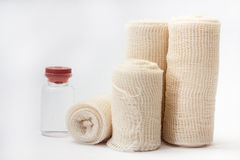 Close view of medical bandages.  Royalty Free Stock Image