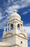 Close view of minaret of Victoria Memorial hall royalty free stock images
