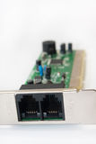 Close view of modem inputs Royalty Free Stock Images
