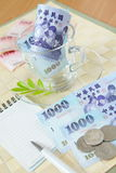 Close view of  money Royalty Free Stock Photos