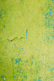 Close View Of Multilayer Dyed And Cracked Flaked Texture Of Blue. And Light Green Paint At  The Surface Royalty Free Stock Photo