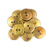 Close View Old Buttons Royalty Free Stock Images