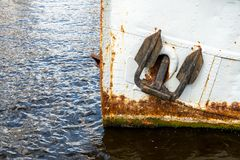 Old destroyed anchor Royalty Free Stock Images