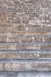Close view of old historical castle stairs going up in old town Royalty Free Stock Photography