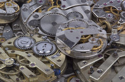 Close view of old watches mechanism Stock Photo