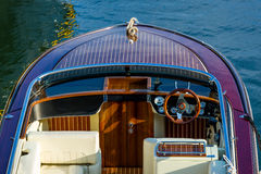 Free Close View On Deck Of Luxury Retro Motor Boat Stock Photo - 78220110