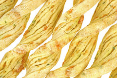 Close view parmesan cheese and garlic bread sticks Stock Photo