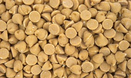 Close view peanut butter chips Royalty Free Stock Photos