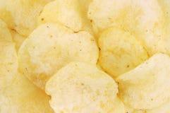 Close View Plain Potato Chips Royalty Free Stock Photo