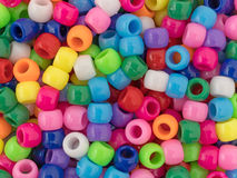 Close view of pony beads Stock Images