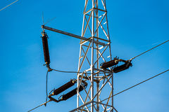 Close view on the powerlines Stock Photography