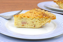 Close view quiche lorraine Stock Photography