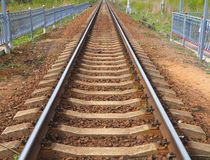 Railway track to the infinite royalty free stock photography