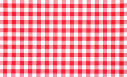 Close view of red checkerboard tablecloth. A very close view of a red and white checkerboard tablecloth Stock Images