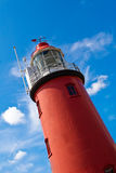 Close view on red lighthouse Royalty Free Stock Photography