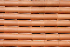 Close view of red roof tiles Stock Images