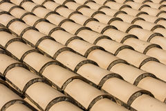 Close view of red roof tiles Stock Photography