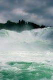 Close view of Rhine waterfalls Stock Photography
