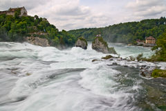 Close view of Rhine waterfalls Royalty Free Stock Images