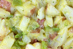 Close view of roasted red potatoes Royalty Free Stock Photography