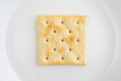 Close view of saltine cracker on a plate Stock Photos