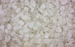 Close view sea salt. A close view of the coarse grains of sea salt Royalty Free Stock Image