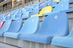 Close view of seats in main grandstand of BIC Stock Photography