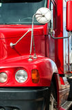 Close View of a Semi-Truck Front End Royalty Free Stock Images