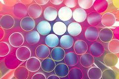 Beautiful Closeup Set of many colored straws background royalty free stock photography