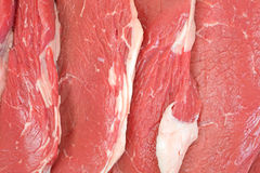 Close view several small steaks Stock Photos