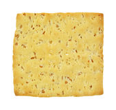 Stone Ground Wheat Cracker up Close Stock Photography