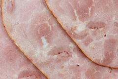 Close view of sliced baked deli ham Stock Photo