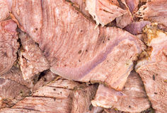 Close view of sliced chuck roast Royalty Free Stock Photos