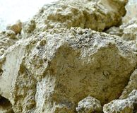 The close view of soil Stock Images
